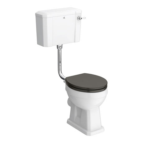 Downton Abbey Carlton Low Level Toilet + Soft Close Seat