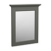 Old London Traditional Mirror (600mm Wide - Charcoal) profile small image view 1