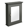 Old London Traditional Mirror Cabinet (650mm Wide - Charcoal) profile small image view 1
