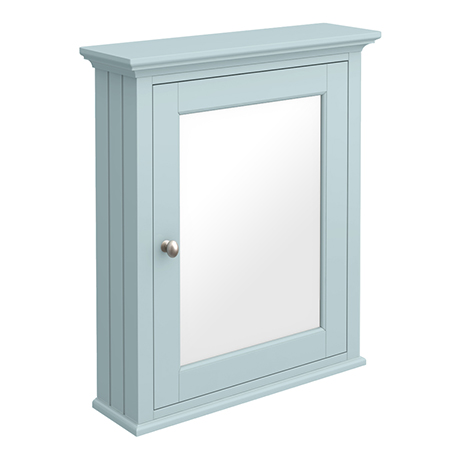 Old London Traditional Mirror Cabinet (650mm Wide - Duck Egg Blue)
