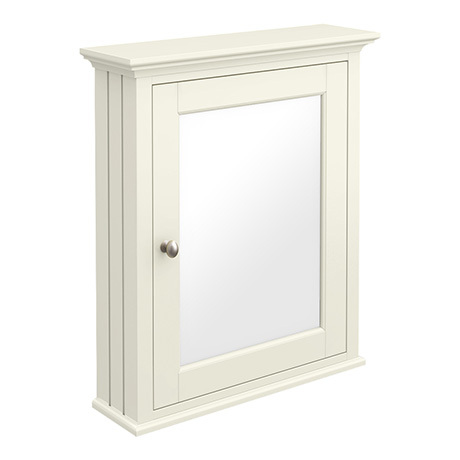 Old London Traditional Mirror Cabinet (650mm Wide - Ivory)