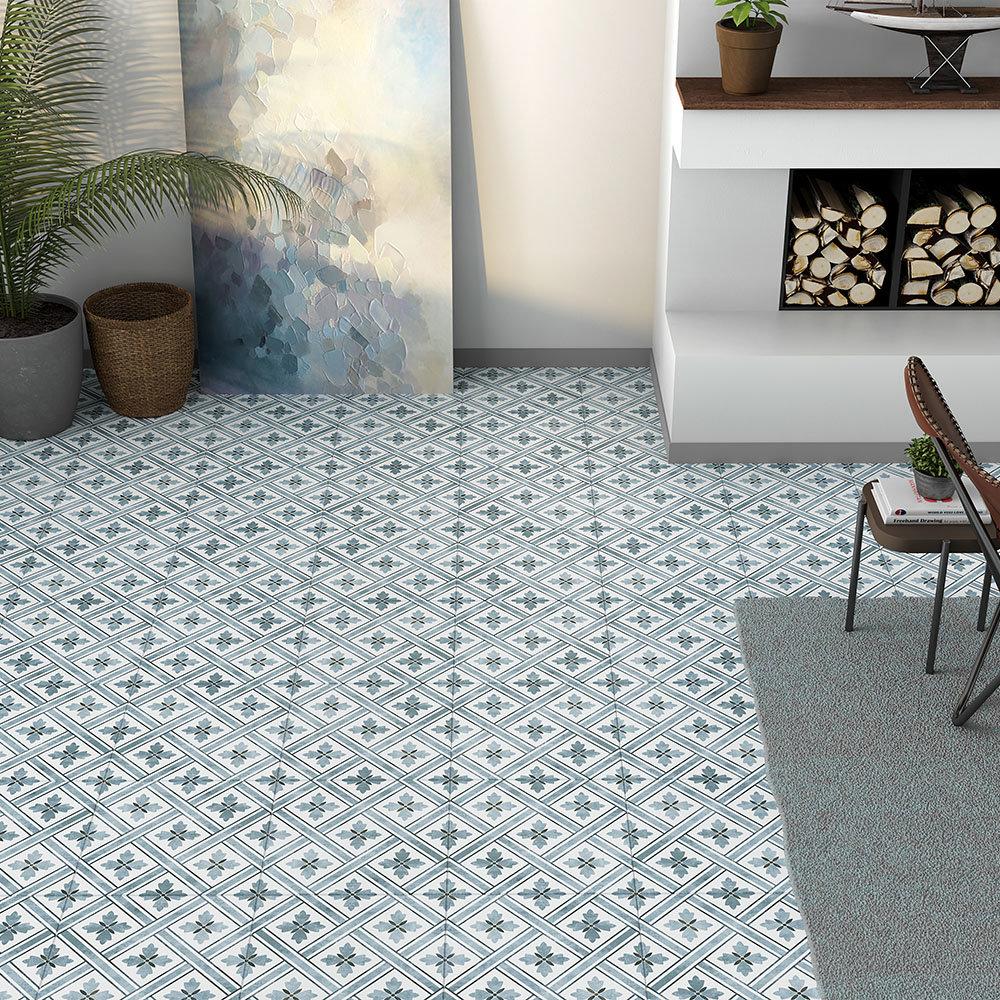 Dalton Dark Blue Grey Wall and Floor Tiles - 330 x 330mm