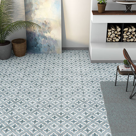 Dalton Dark Blue Wall and Floor Tiles - 330 x 330mm