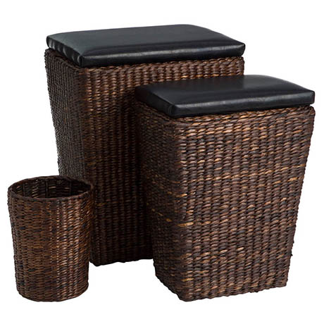 Darwin 3-Piece Laundry and Waste Basket Set