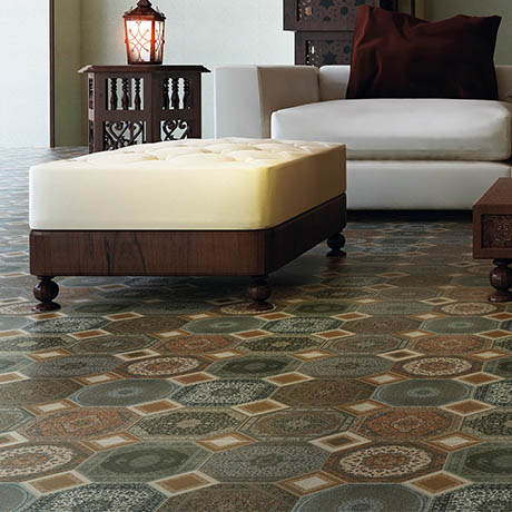Darius Patterned Floor Tiles - 600 x 600mm