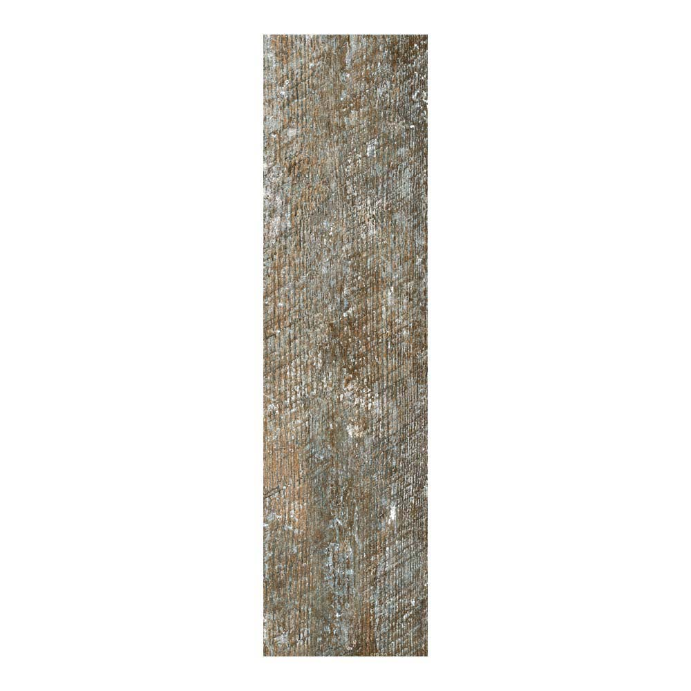 Darwin Dark Wood Effect Porcelain Floor Tile - 220 x 850mm  Profile Large Image