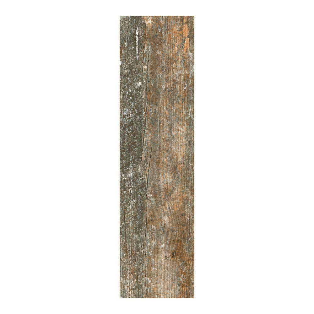 Darwin Dark Wood Effect Porcelain Floor Tile - 220 x 850mm  Feature Large Image