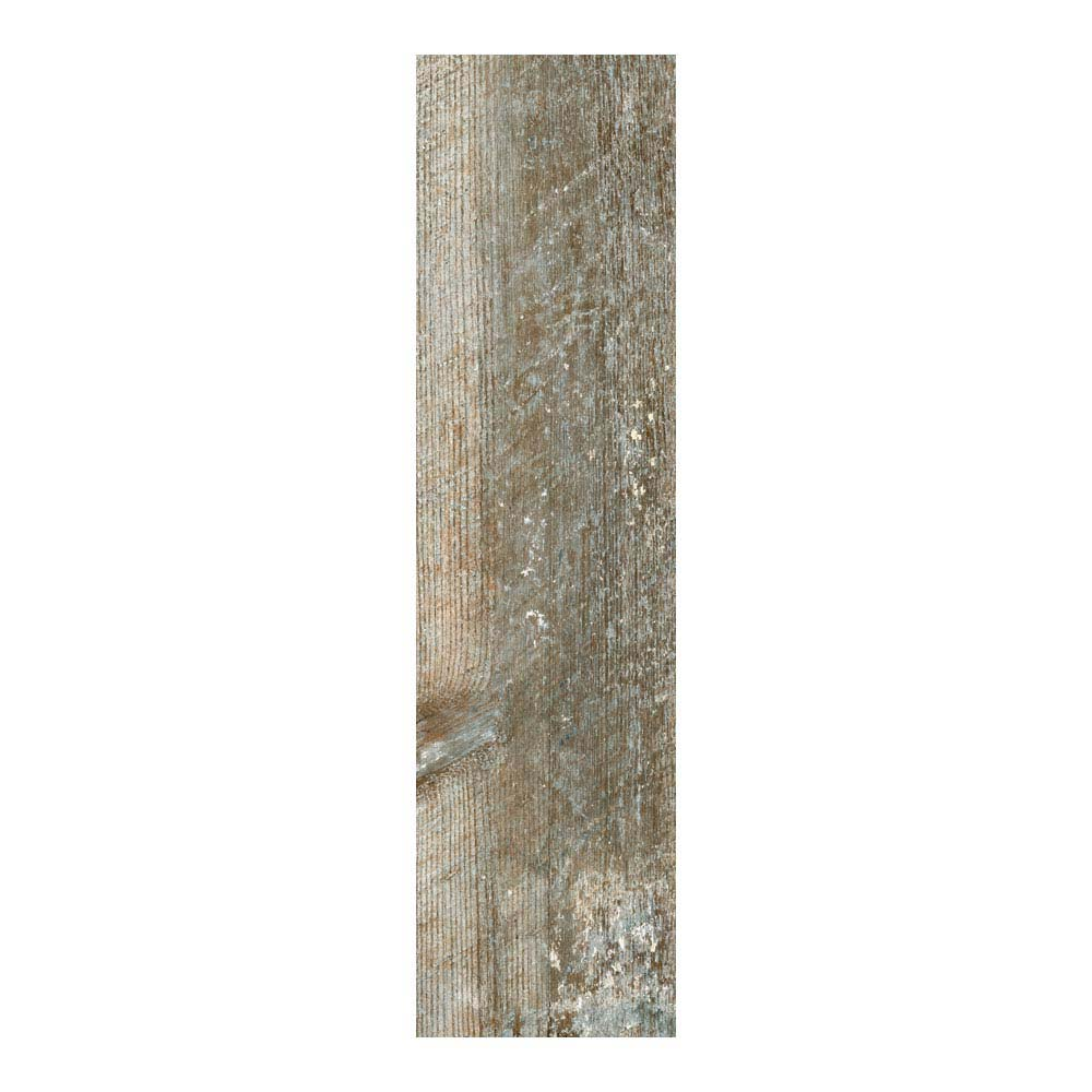 Darwin Dark Wood Effect Porcelain Floor Tile - 220 x 850mm  Standard Large Image