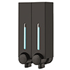 Modern Black Double Wall Mounted Soap Dispenser profile small image view 1