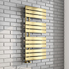 Delta Brushed Brass Designer Heated Towel Rail 1080 x 550mm profile small image view 1