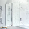 Crosswater Design Semi-Frameless Outward Opening Double Bath Screen - 1060mm profile small image view 1