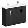 Brooklyn 1205mm Black Double Basin Vanity Unit profile small image view 1