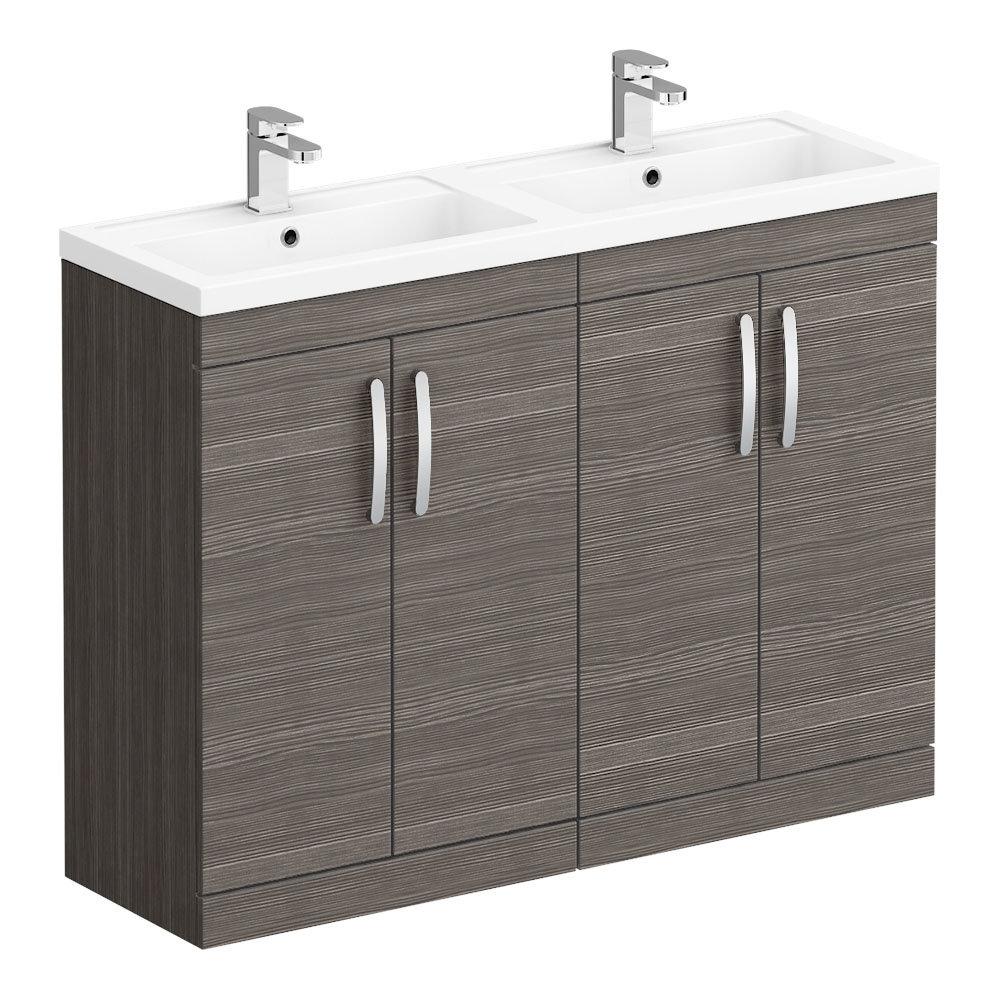 The Brooklyn Grey Avola Double Basin Vanity Unit