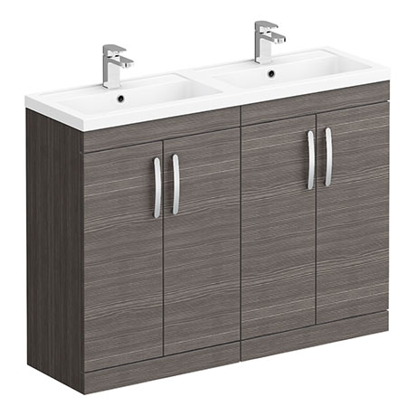 Brooklyn 1205mm Grey Avola Double Basin Vanity Unit
