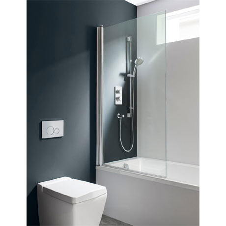 Simpsons - Design Semi-Frameless Single Bath Screen - 850mm
