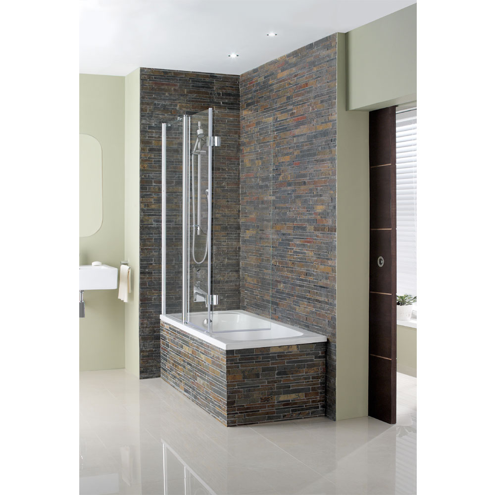Simpsons - Design Semi-Frameless Triple Bath Screen - 1500mm Profile Large Image