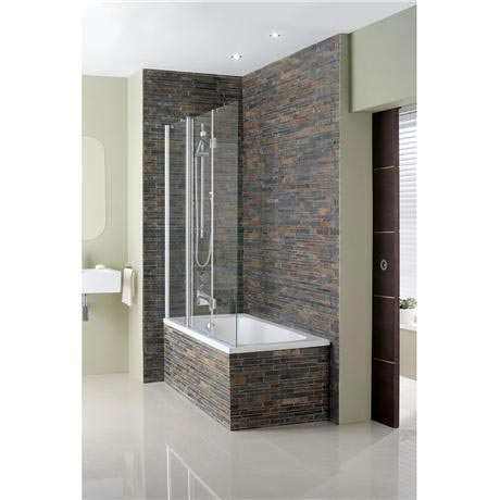 Simpsons - Design Semi-Frameless Triple Bath Screen - 1500mm