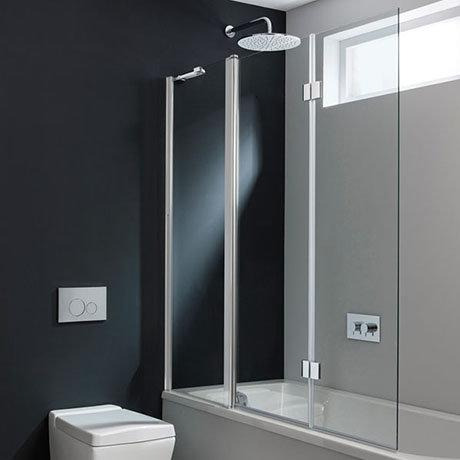 Crosswater Design Semi-Frameless Triple Bath Screen - 1500mm