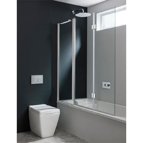 Simpsons Design Semi-Frameless Triple Bath Screen - 1500mm