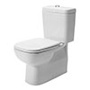 Duravit D-Code BTW Close Coupled Toilet + Seat profile small image view 1
