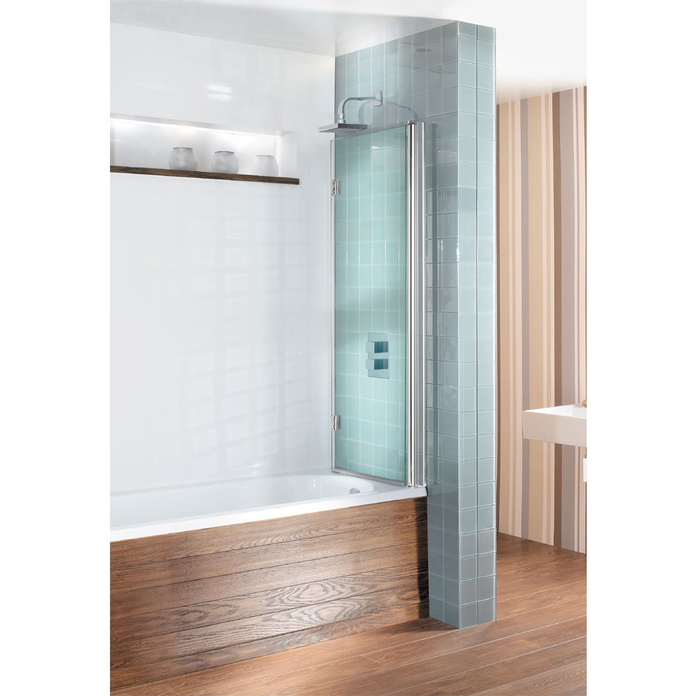Simpsons Design View Dual Inward Opening Double Bath Screen - 1060mm profile large image view 2