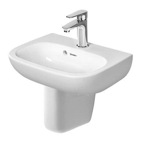 Duravit D-Code 450mm 1TH Handrinse Basin + Semi Pedestal