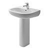 Duravit D-Code 1TH Basin + Full Pedestal profile small image view 1
