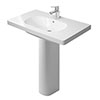 Duravit D-Code 1TH Washbasin + Full Pedestal profile small image view 1
