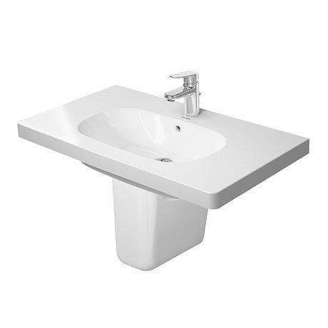 Duravit D-Code 1TH Washbasin + Semi Pedestal