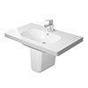 Duravit D-Code 1TH Washbasin + Semi Pedestal profile small image view 1