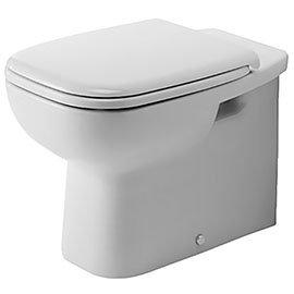Duravit D-Code HygieneGlaze Back to Wall Toilet Pan + Seat