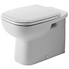 Duravit D-Code Back to Wall Toilet Pan + Seat profile small image view 1