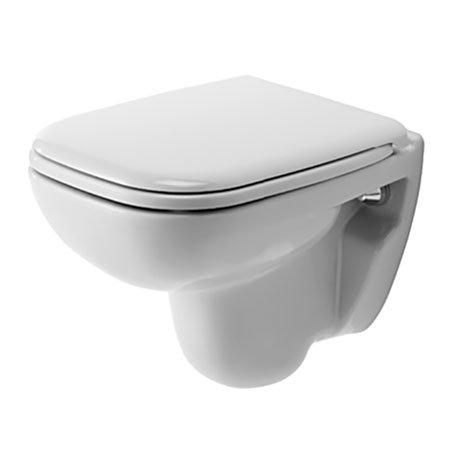 Duravit D-Code Compact HygieneGlaze Wall Hung Toilet + Seat