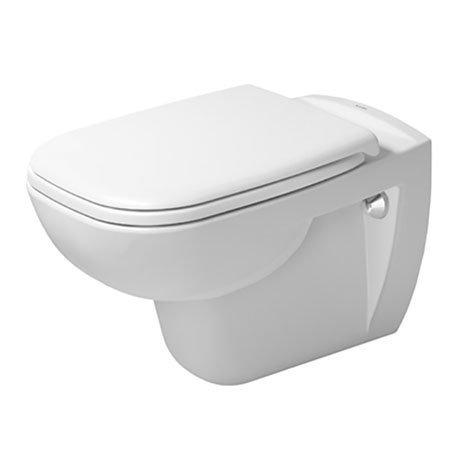 Duravit D-Code Rimless HygieneGlaze Wall Hung Toilet + Seat