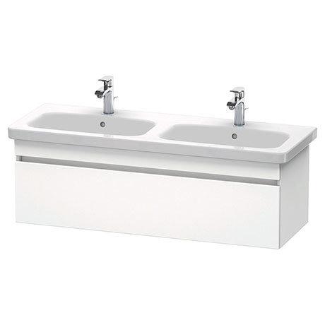 Duravit DuraStyle 1300mm 1-Drawer Wall Mounted Double Basin Vanity Unit - White Matt