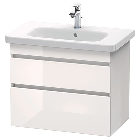 Duravit DuraStyle 800mm 2-Drawer Wall Mounted Vanity Unit - White High Gloss