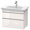 Duravit DuraStyle 800mm 2-Drawer Wall Mounted Vanity Unit - White High Gloss profile small image view 1