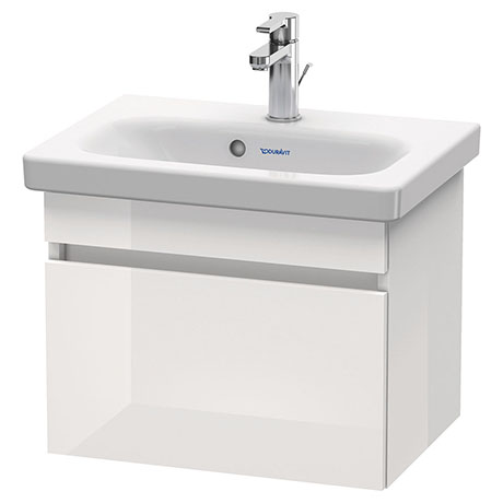 Duravit DuraStyle 500mm 1-Drawer Wall Mounted Vanity Unit - White High Gloss