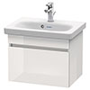 Duravit DuraStyle 550mm 1-Drawer Wall Mounted Vanity Unit - White High Gloss profile small image view 1