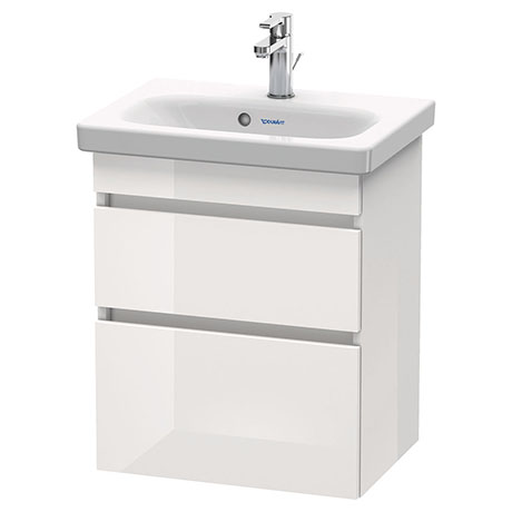 Duravit DuraStyle 550mm 2-Drawer Wall Mounted Vanity Unit - White High Gloss