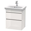 Duravit DuraStyle 550mm 2-Drawer Wall Mounted Vanity Unit - White High Gloss profile small image view 1