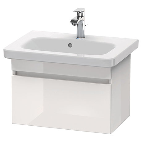 Duravit DuraStyle 580mm 1-Drawer Wall Mounted Vanity Unit - White High Gloss