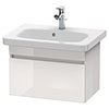 Duravit DuraStyle 635mm 1-Drawer Wall Mounted Vanity Unit - White High Gloss profile small image view 1
