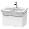 Duravit DuraStyle 635mm 1-Drawer Wall Mounted Vanity Unit - White Matt profile small image view 1