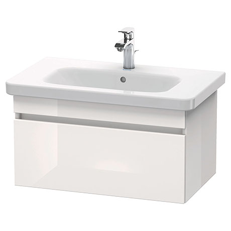 Duravit DuraStyle 800mm 1-Drawer Wall Mounted Vanity Unit - White High Gloss