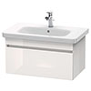 Duravit DuraStyle 800mm 1-Drawer Wall Mounted Vanity Unit - White High Gloss profile small image view 1