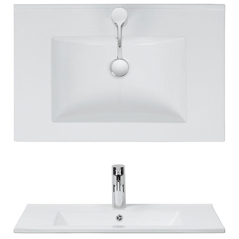Bauhaus - Design 1 Tap Hole Inset Basin - 3 Size Options Profile Large Image