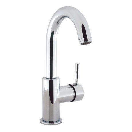 Crosswater - Design Side Lever Monobloc Basin Mixer with Waste - DE111DPC