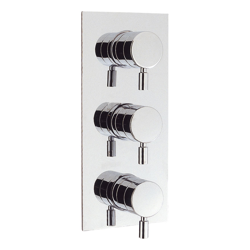 Crosswater - Design Thermostatic Shower Valve with 3 Way Diverter - DE3000RC Large Image