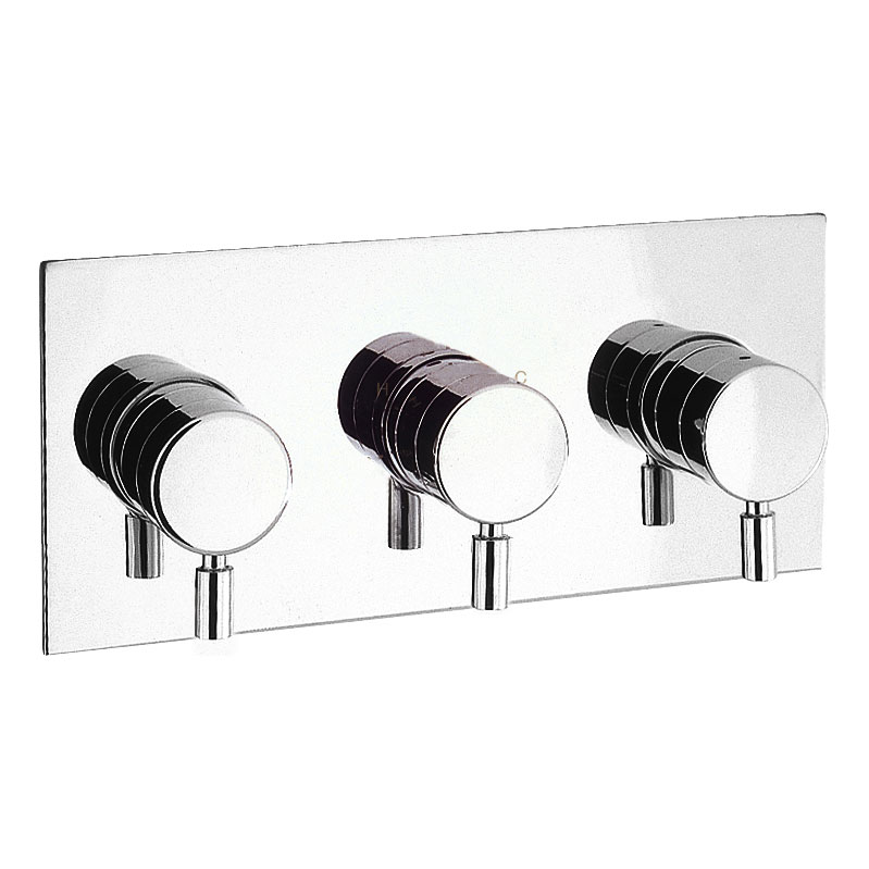 Crosswater - Design Thermostatic Shower Valve with 3 Way Diverter - DE3001RC Large Image